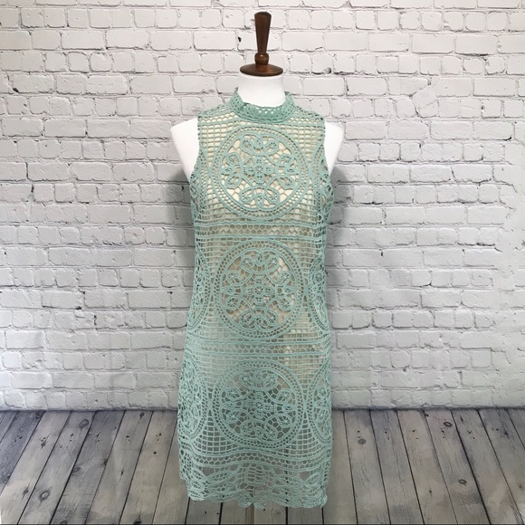 9a978358dc55e Anthropologie Dresses & Skirts - Anthropologie Champagne & Strawberry mint  dress